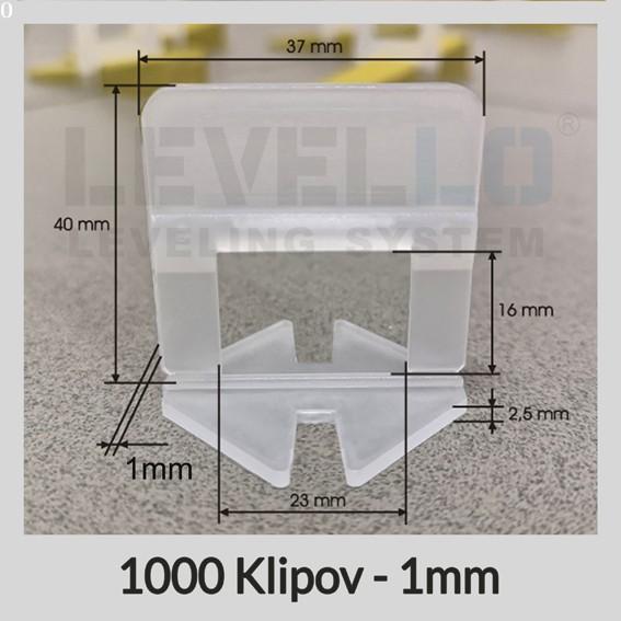 Klipy Klasik LEVELLO ® 1 mm, 1000 kusov