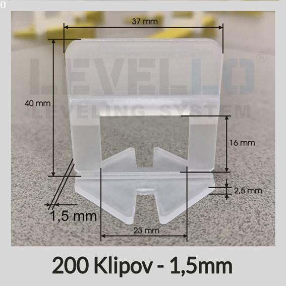 Klipy Klasik LEVELLO ® 1,5 mm, 200 kusov