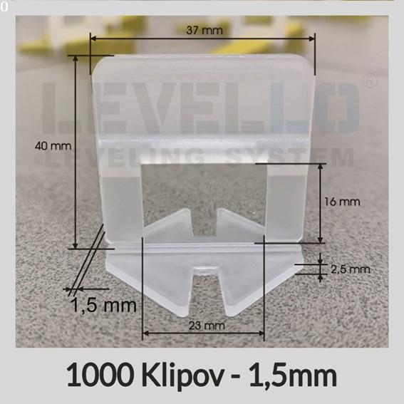 Klipy Klasik LEVELLO ® 1,5 mm, 1000 kusov