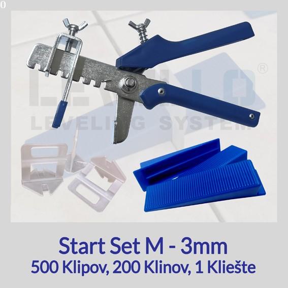 Nivelačný štartovací set Eko M 3 mm, 1 kus