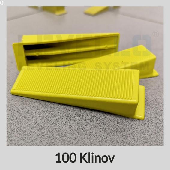 Nivelačné kliny žlté, 100 kusov